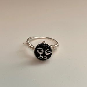 black and silver ring!